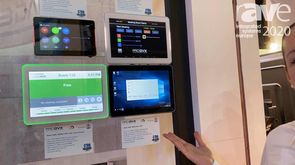 ISE 2020: ProDVX Europe Demos Its APPC-10SLBW 10-Inch Integrated Meeting Room Touch Screen Displays