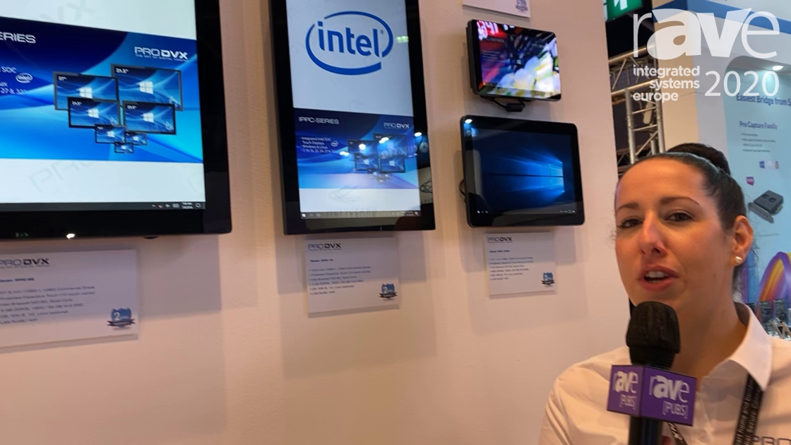 ISE 2020: ProDVX Europe Shows Off IPPC-22 Integrated Intel Panel PC Displays in Various Sizes