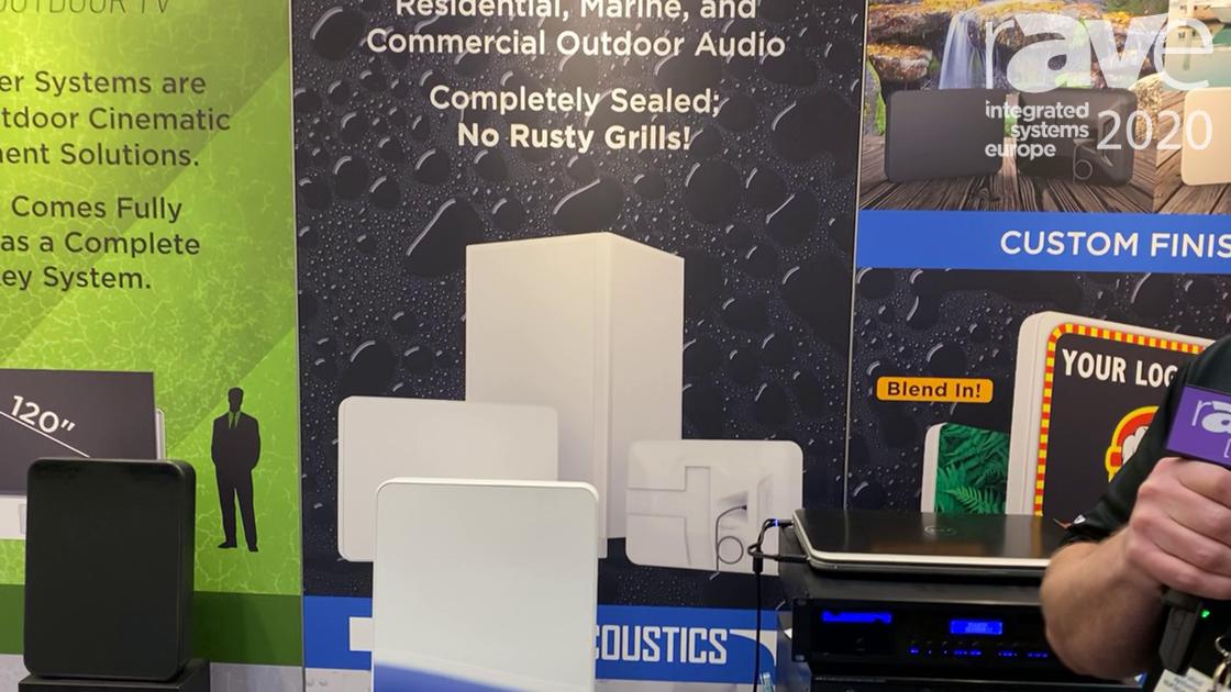 ISE 2020: Stealth Acoustics Demos StingRay, Custom IP68-Rated Surface Mount Outdoor Loudspeaker