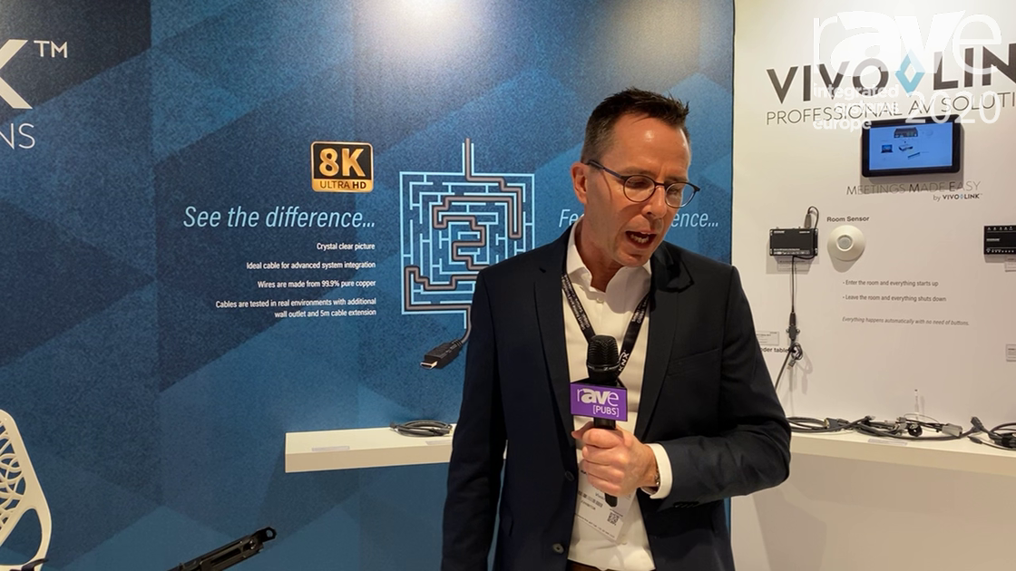 ISE 2020: VivoLink Features ProHDMIOP50 Optical HDMI Cable That Support 4K@60Hz 4:4:4