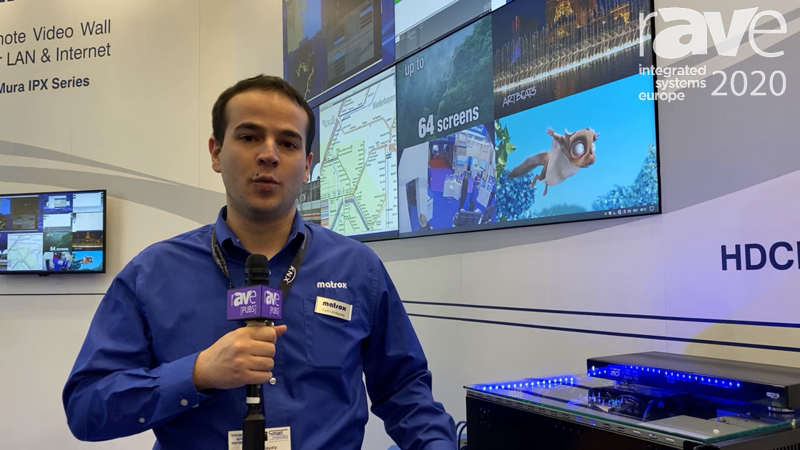 ISE 2020: Matrox Adds the D-Series Video Wall Graphics Card With Four 4K@60Hz Outputs