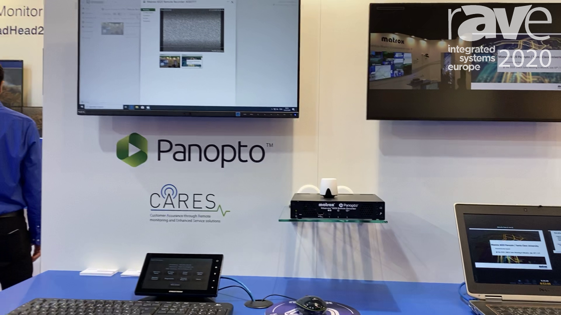ISE 2020: Matrox Features Maevex 6020 Remote Recorder for Panopto, Adds RS232 Control