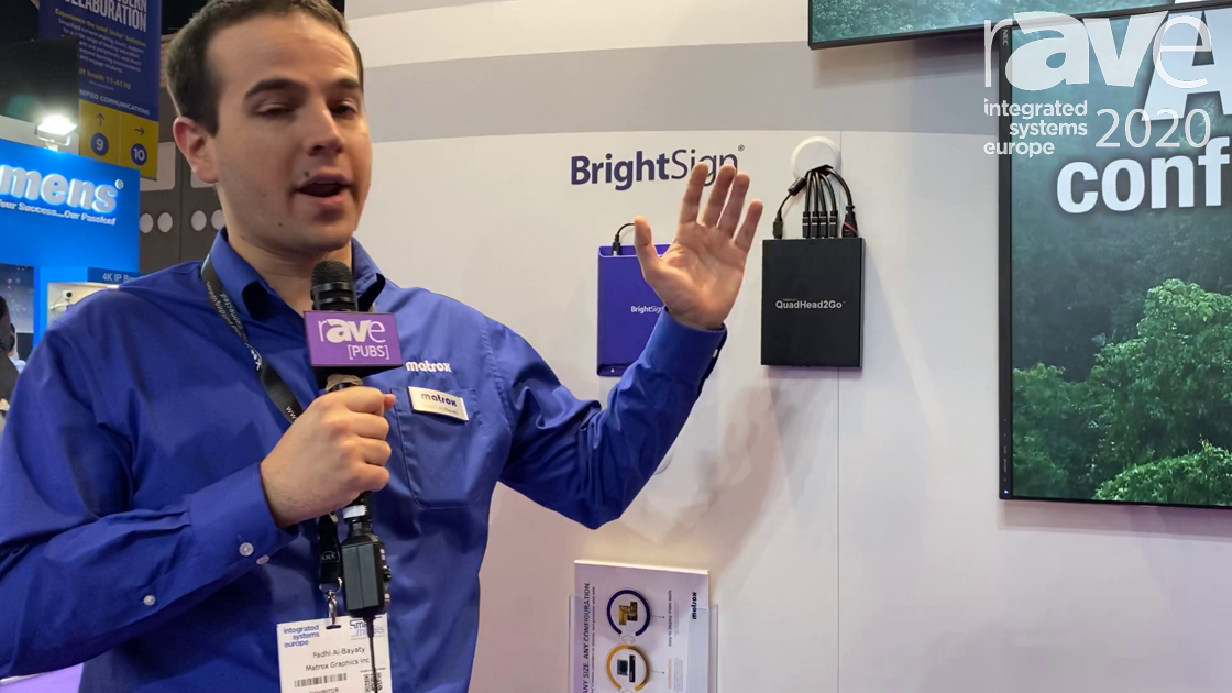 ISE 2020: Matrox Intros QuadHead2Go Video Wall Controller With HDMI 4K@60Hz Input