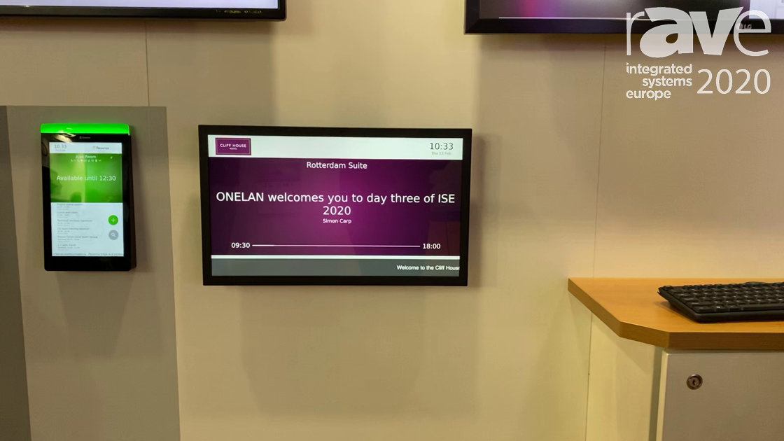 ISE 2020: Onelan Shows Reserva, Built on Its NTB Operating System, Digital Signage for Hospitality