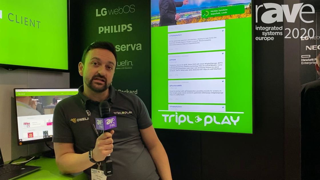 ISE 2020: Tripleplay Adds Native Social Media, Multiview to IPTV, Digital Signage Software