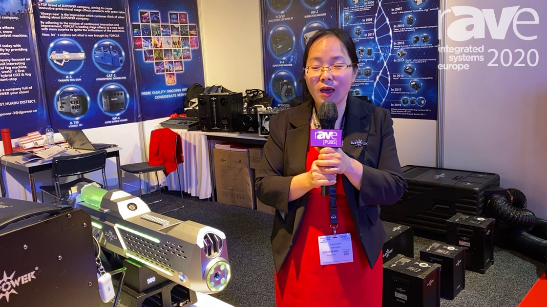 ISE 2020: DJPOWER Demonstrates Its WP-2 Fog Bubble Machine