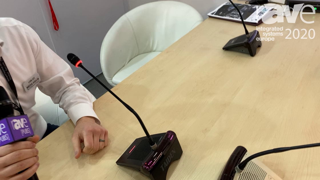 ISE 2020: Media Vision Shows Off Latest TAIDEN Digital Infrared Wireless Conferencing System