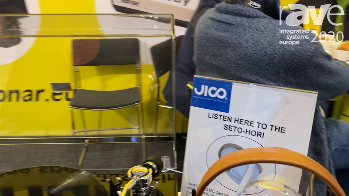 ISE 2020: JICO Presents SETO-HORI Cartridge for Record Players in the Tonar & Allitone Stand