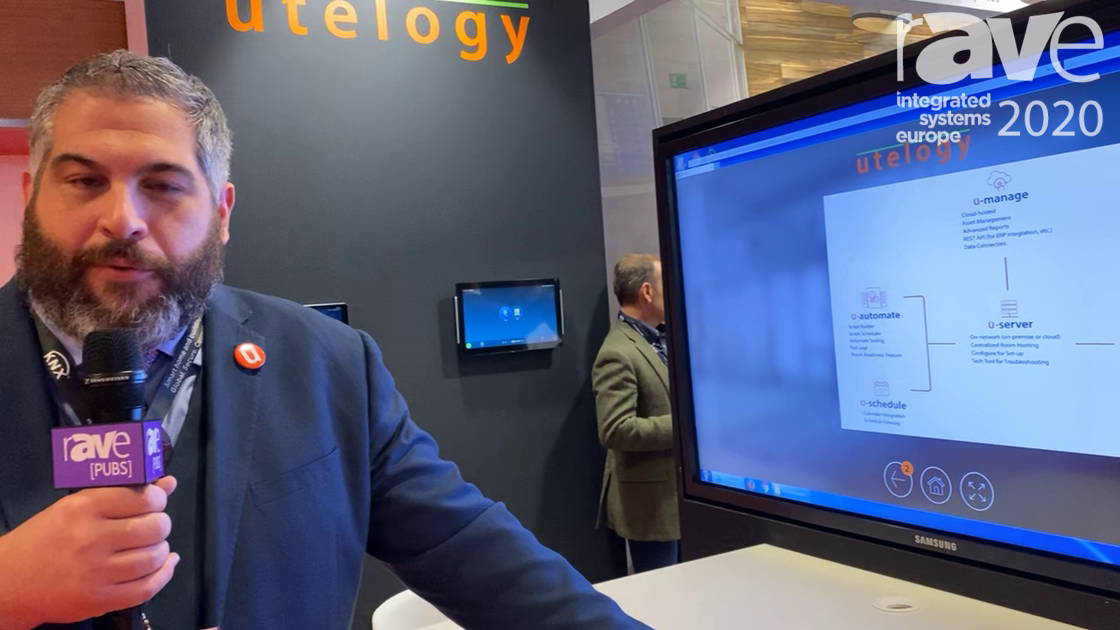 ISE 2020: Utelogy Demos Its U-Automate Automation-Scripting Testing Engine for Conference Rooms