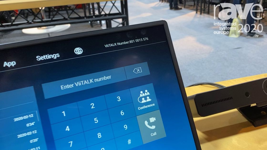 ISE 2020: Beijing Viisan Technology Shows ViiTALK Video Conferencing Terminal