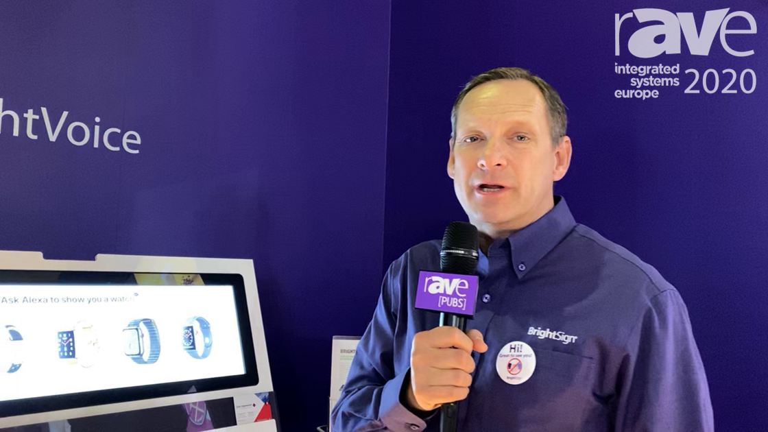 ISE 2020: BrightSign Overviews BrightVoice Voice-Activated Digital Signage for Display Interactions