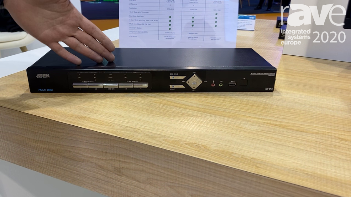ISE 2020: ATEN Exhibits CM1164A, 4-Port Multi-View KVM Switcher for Video Source Control