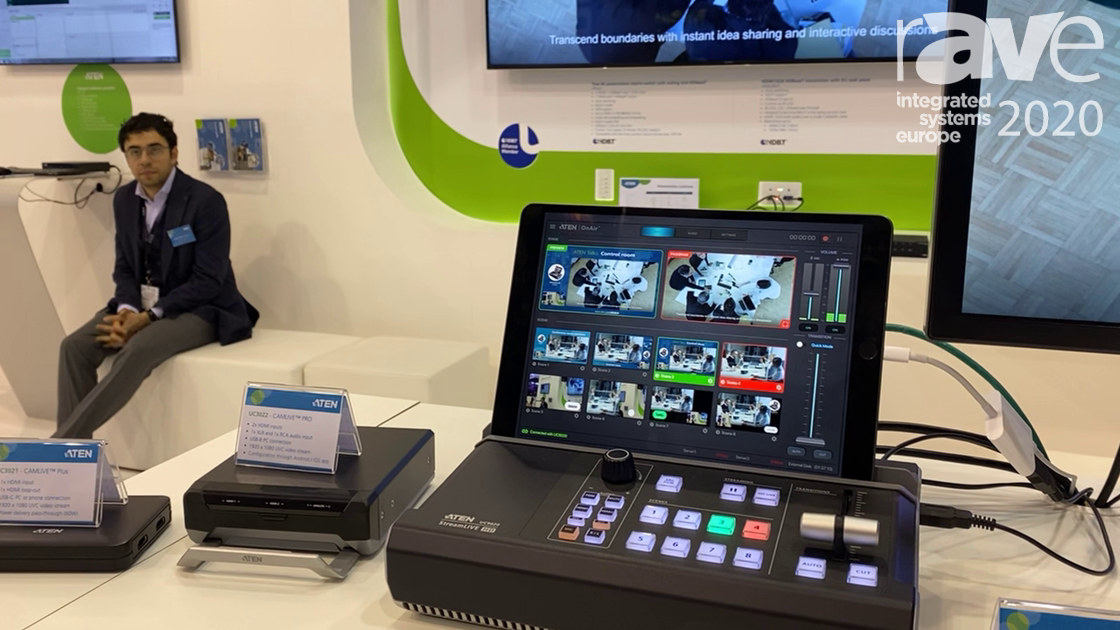 ISE 2020: ATEN Discusses UC9020 StreamLIVE HD Live-Streaming Device, Previews CAMLIVE Pro and Plus