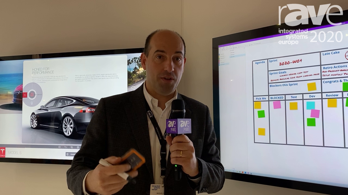 ISE 2020: DISPLAX Demos Sense Whiteboard Touch Screen Solution with Digital Pen and Eraser