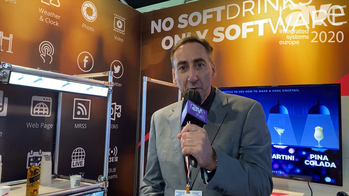 ISE 2020: NoviSign Demos IOT Retail Screens with RFID sensors in German