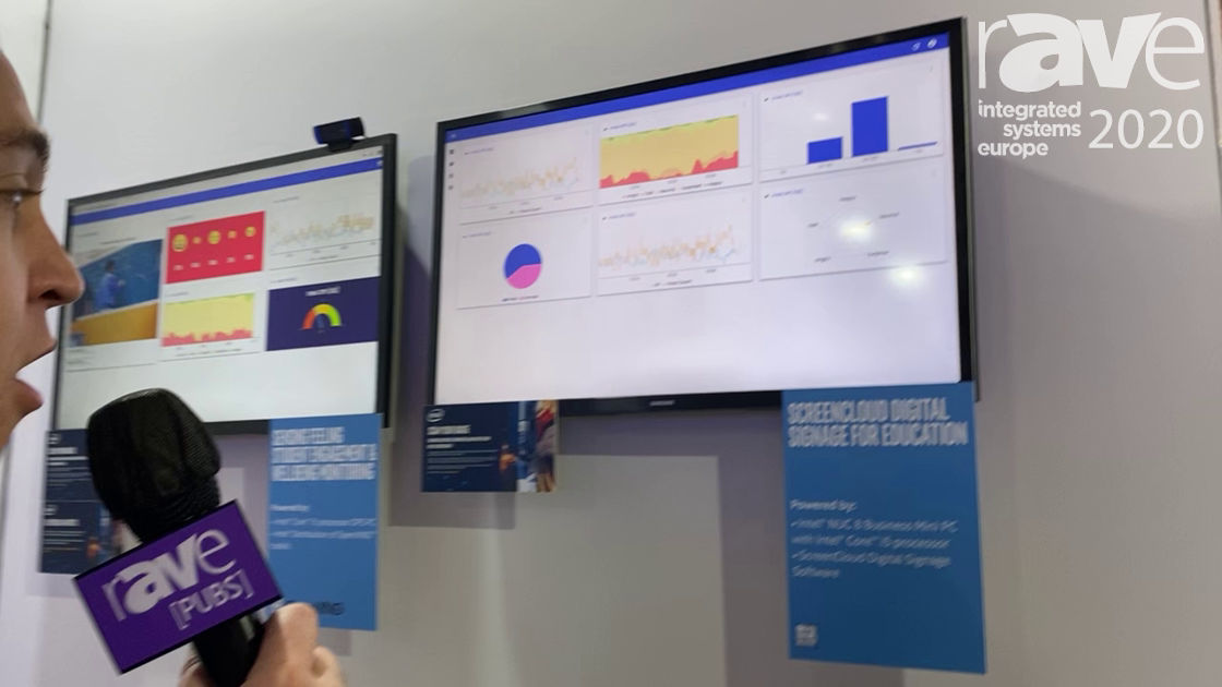 ISE 2020: ScreenCloud Demos Cloud-Based Digital Signage Software in the Intel Stand