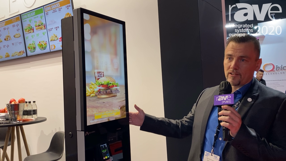 ISE 2020: Acrelec Demonstrates K27 Indoor Kiosk for Fast-Food Ordering