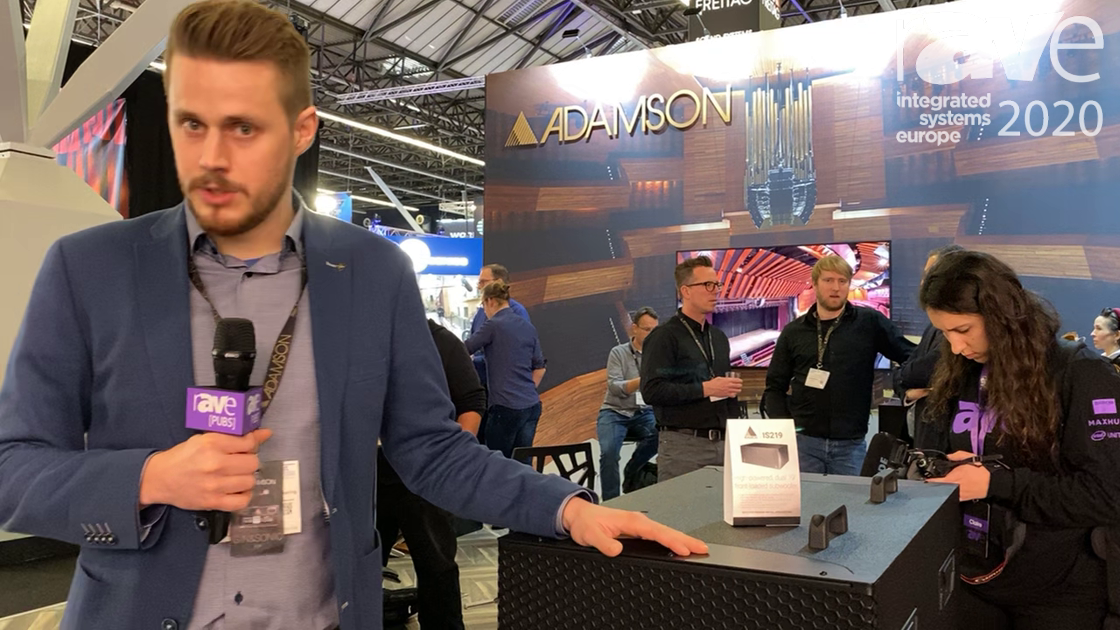 ISE 2020: Adamson Showcases IS219 High-Power Subwoofer for Ground Stack Configurations