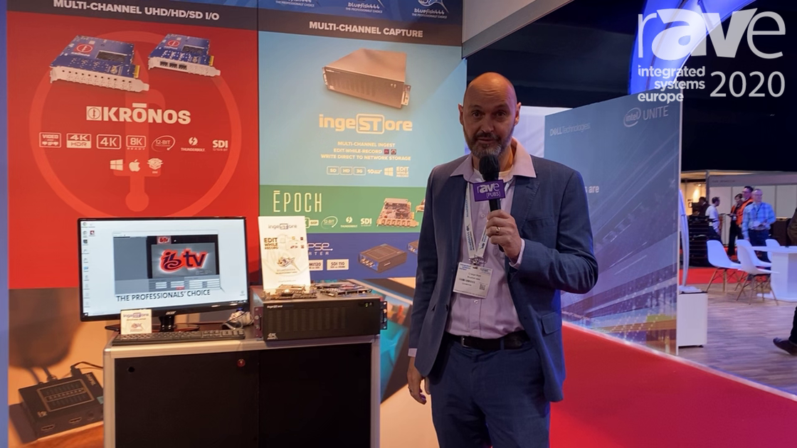 ISE 2020: Bluefish444 Intros IngeSTore Server SDI and HDMI Recorder With Livestream Editing Ability