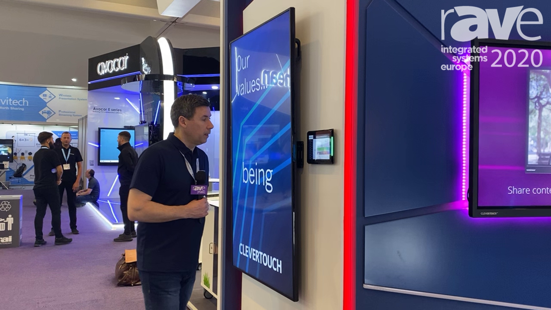 ISE 2020: Clevertouch Expos 10-inch Room-Booking Panel