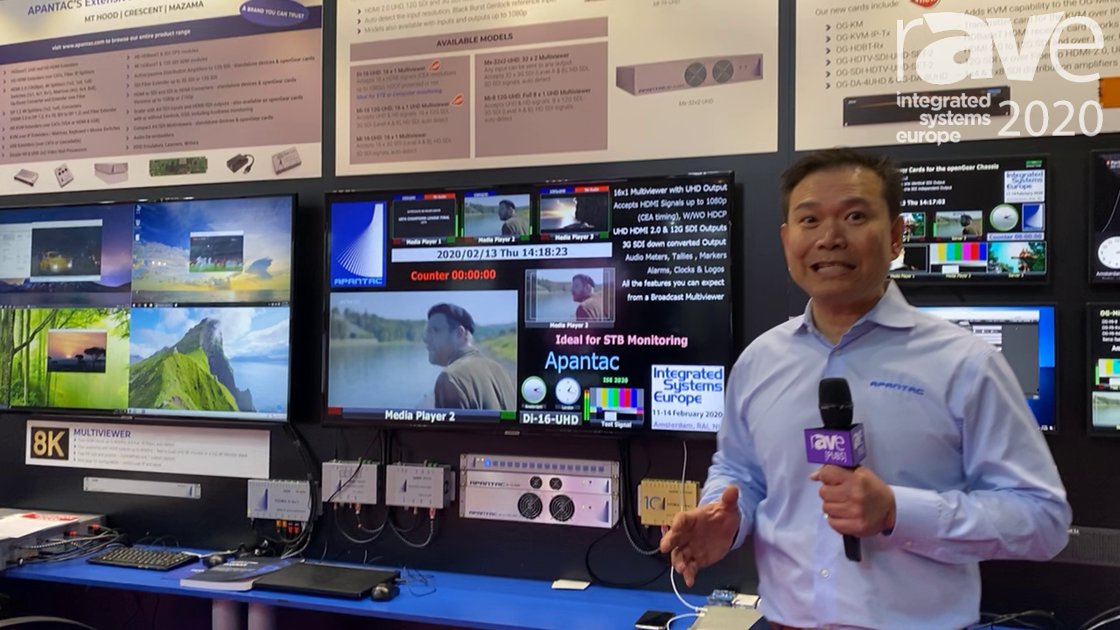 ISE 2020: Apantac Features the Di-16-UHD Multiviewer That Outputs 16 1080p Inputs to 4 UHD Outputs