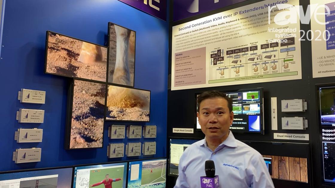 ISE 2020: Apantac Highlights KVM over IP Multiviewer and Transmitter