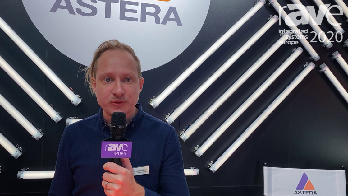 ISE 2020: Astera Demonstrates Titan Tube LED Solution With Tablet Control