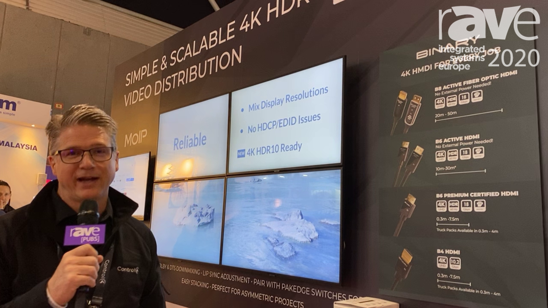 ISE 2020: SnapAV Presents Binary MoIP, Simple Scaleable Video Distribution