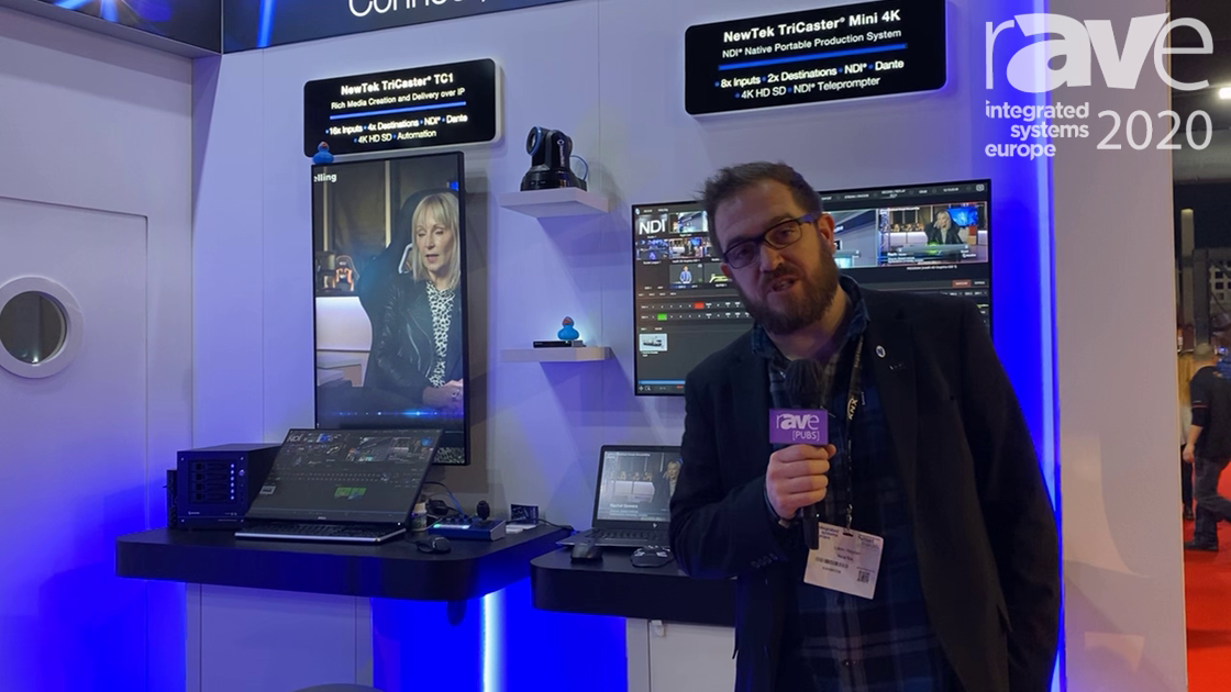 ISE 2020: NewTek Shows TriCaster Mini 4K Live Production System with 8 Live Inputs and Live Story