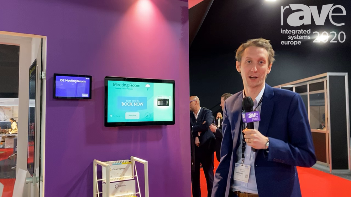 ISE 2020: Otrum Presents Cloud-Powered Meeting Room Display with Touch Capabilities
