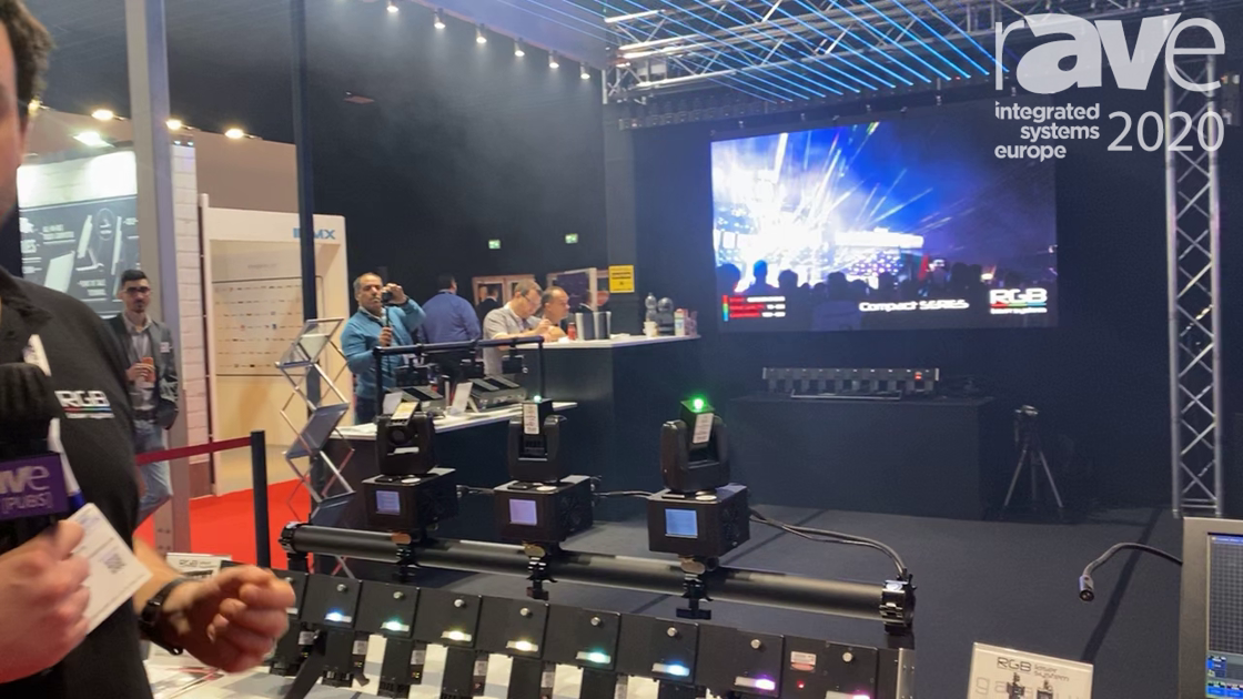 ISE 2020: RGB Laser System Illustrates Galaxy 300 Moving Head Laser Beams