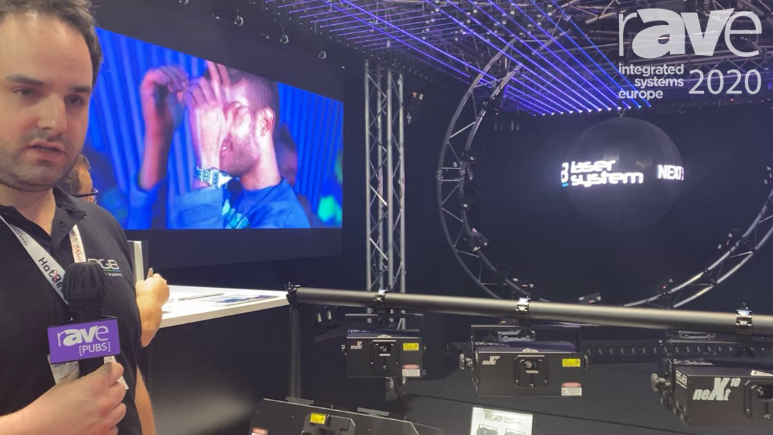 ISE 2020: RGB Laser System Highlights NeXt Laser Projectors
