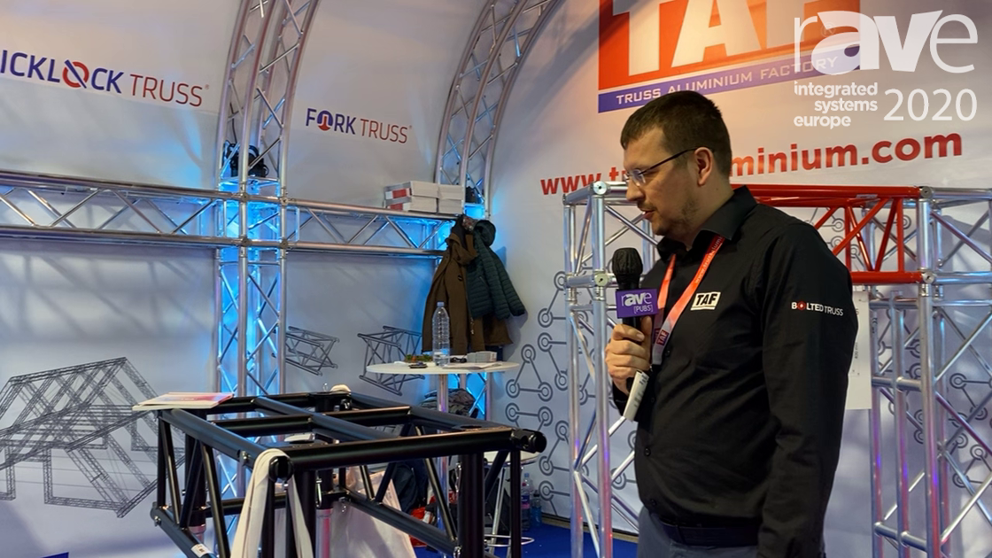 ISE 2020: Tuss Aluminium Factory a.s. Shows PR1 Pre-Rig Truss for Rental Companies and Installers