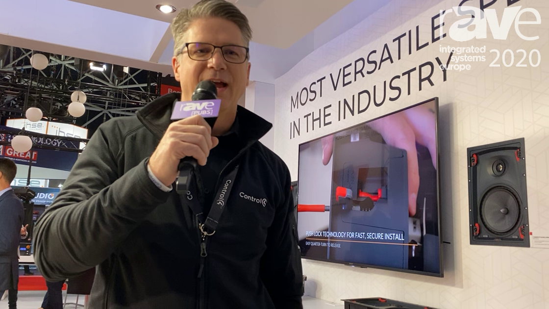 ISE 2020: SnapAV Demos Signature by Episode Speakers with Mounting and Push Lock Technology