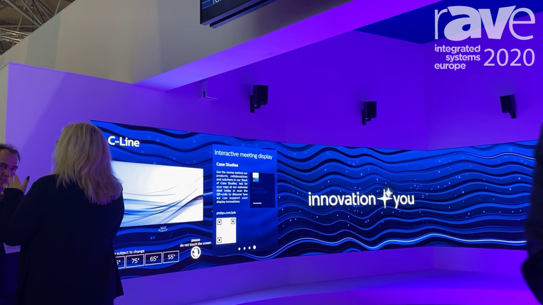 ISE 2020: Philips Demos Immersive LED Wall Theater With C-Line