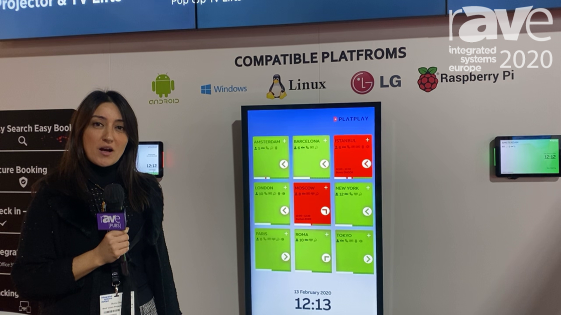 ISE 2020: PlatPlay Explains Room Manager Meeting Room Solution