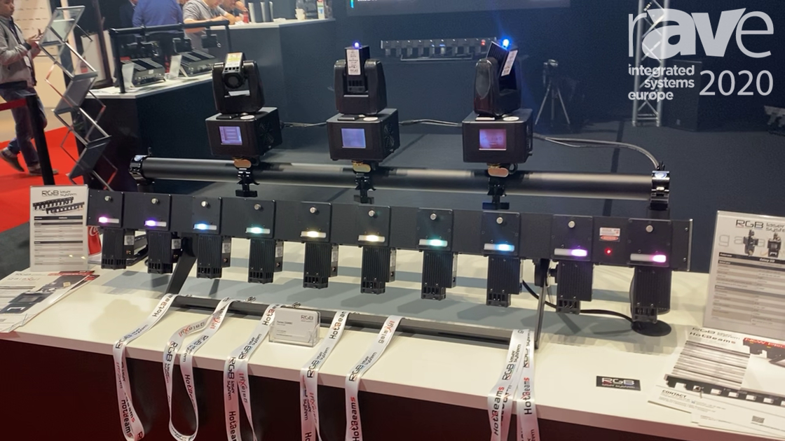 ISE 2020: RGB Laser System Shows Off HotBeams Controllable From DMX Table