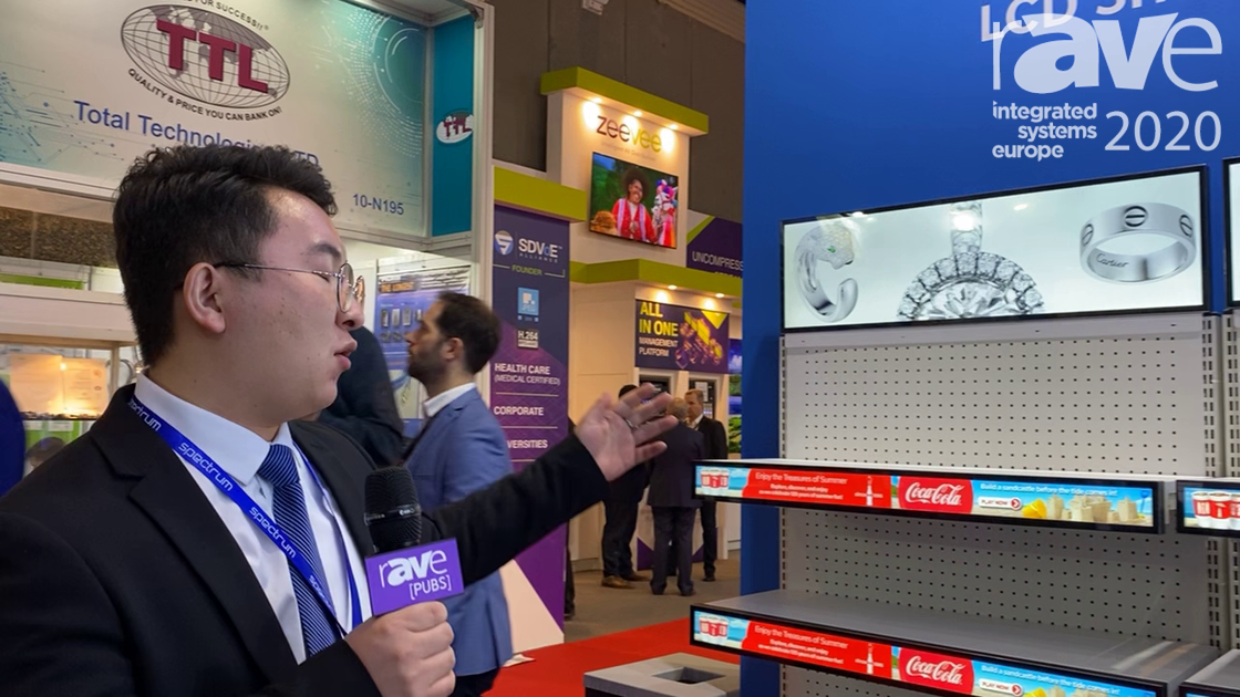 ISE 2020: Shenzen Spectrum Technology Exhibits an LCD Shelf Display Series for Supermarkets