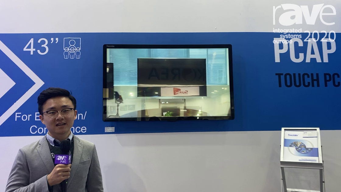 ISE 2020: TouchWo Features 43″ PCAP All-in-One Touch Display With 10-20 Points of Touch