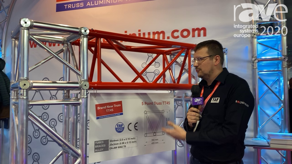 ISE 2020: Truss Aluminium Factory a.s.'s 5 Point Truss TT45 Has a Fifth Truss Rail for Lights, Etc.