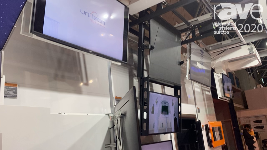 ISE 2020: Unitech Systems Demos the FPLC V2 Flat Panel Motorized Ceiling Lift