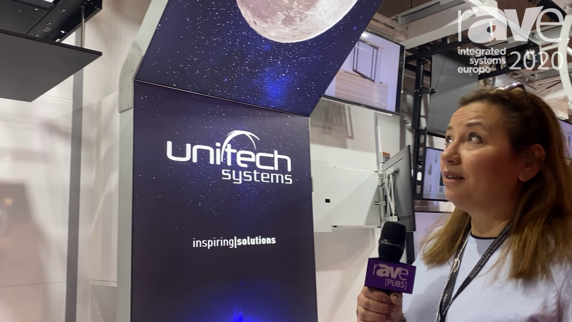 ISE 2020: Unitech Systems Demos Motorized Projector Ceiling Lift With Cable Management