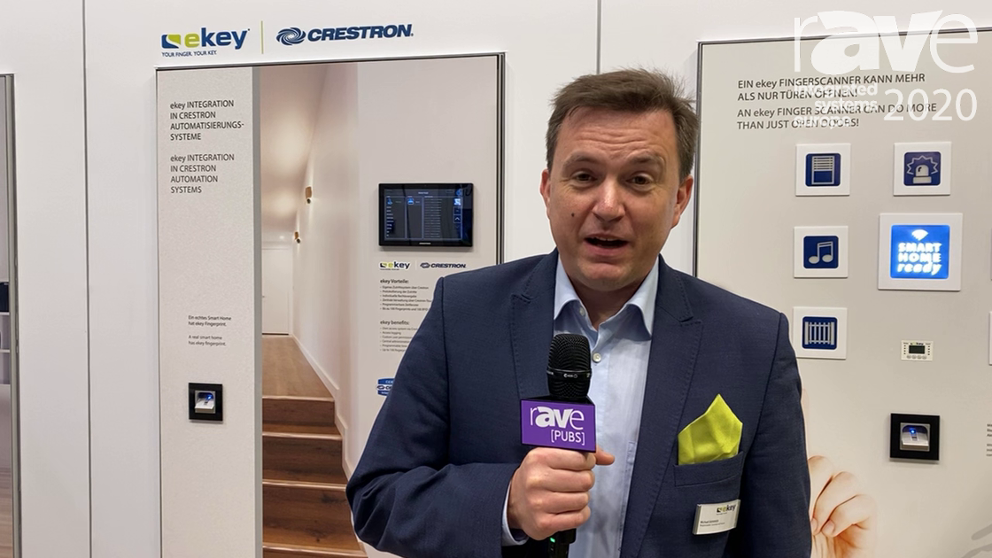 ISE 2020: ekey biometric systems's Fingerprint Scanner Now Integrates With Crestron Control Systems