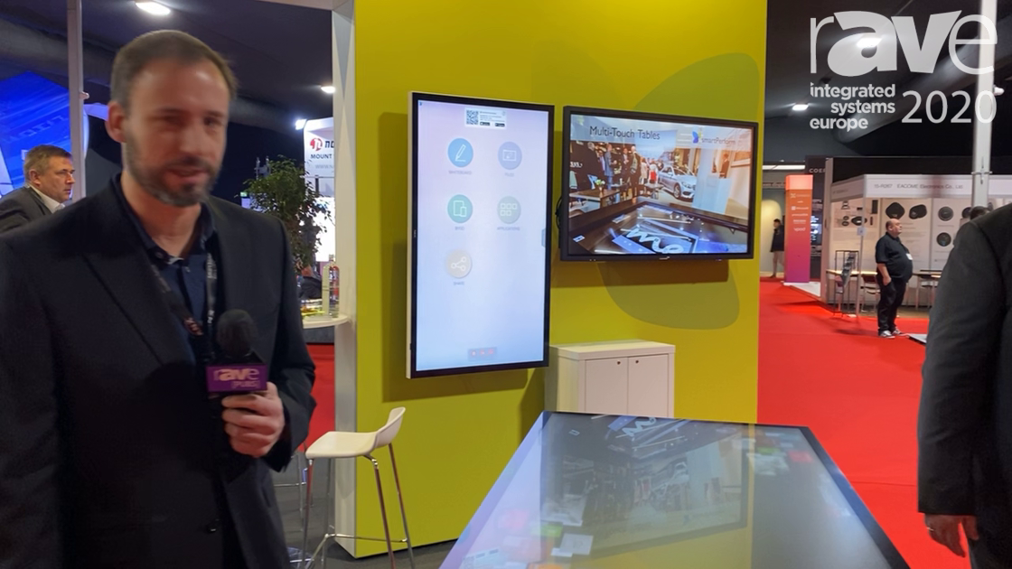ISE 2020: smartPerform Demos Pro Touch Table with Token Recognition in Retail Application
