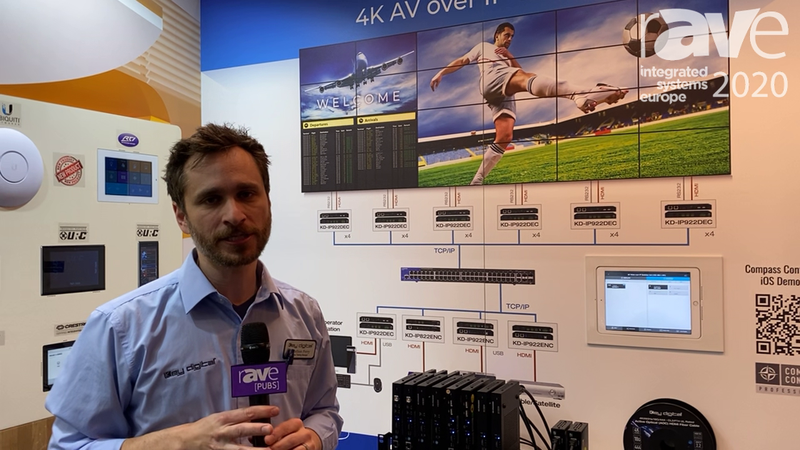 ISE 2020: Key Digital Talks KD-IP822, KD-IP922 AV-Over-IP Encoders for Mixing and Matching