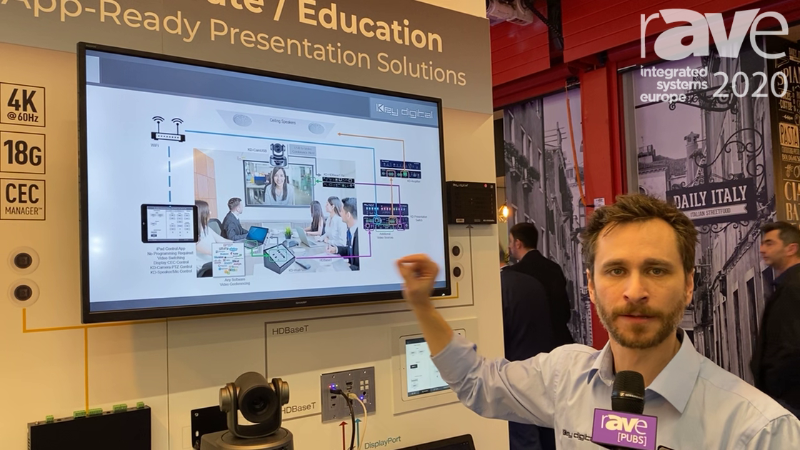 ISE 2020: Key Digital Showcases the KD-UPS 524 BYOD Conference Room in a Box Solution