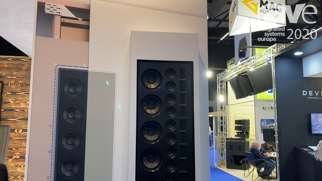 ISE 2020: MartinLogan Features the Statement 40XW Flagship In-Wall Line Source Loudspeaker