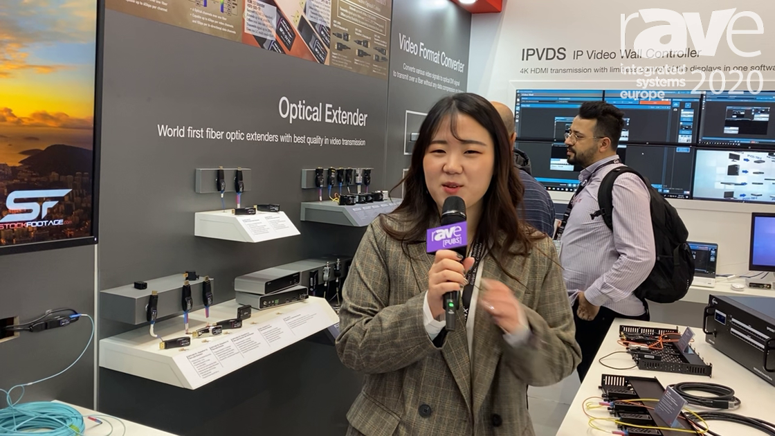 ISE 2020: Opticis Co., Ltd. Shows HDFX-500 HDMI 2.0 and DPFX-300 DisplayPort 1.2 4K Fiber Extenders
