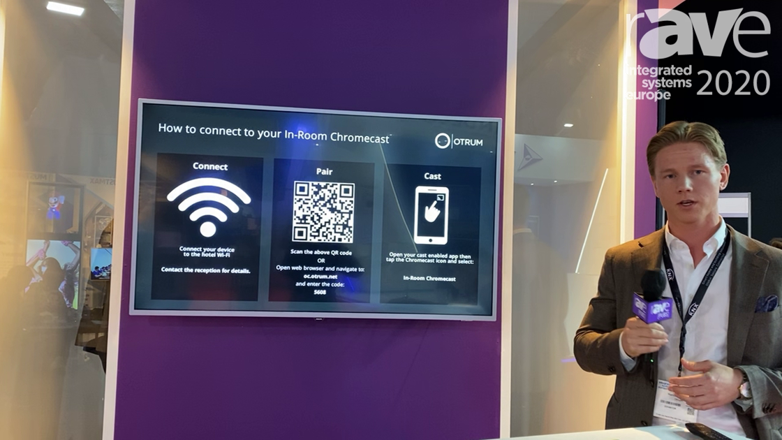 ISE 2020: Otrum Shows How OtrumCast Casting Solution for Hotel Rooms Works