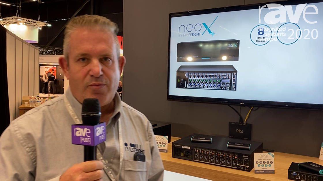 ISE 2020: Pulse-Eight Features Neo8A Fast-Switching Video Matrix, Now With Audio Break-Out on HDMI